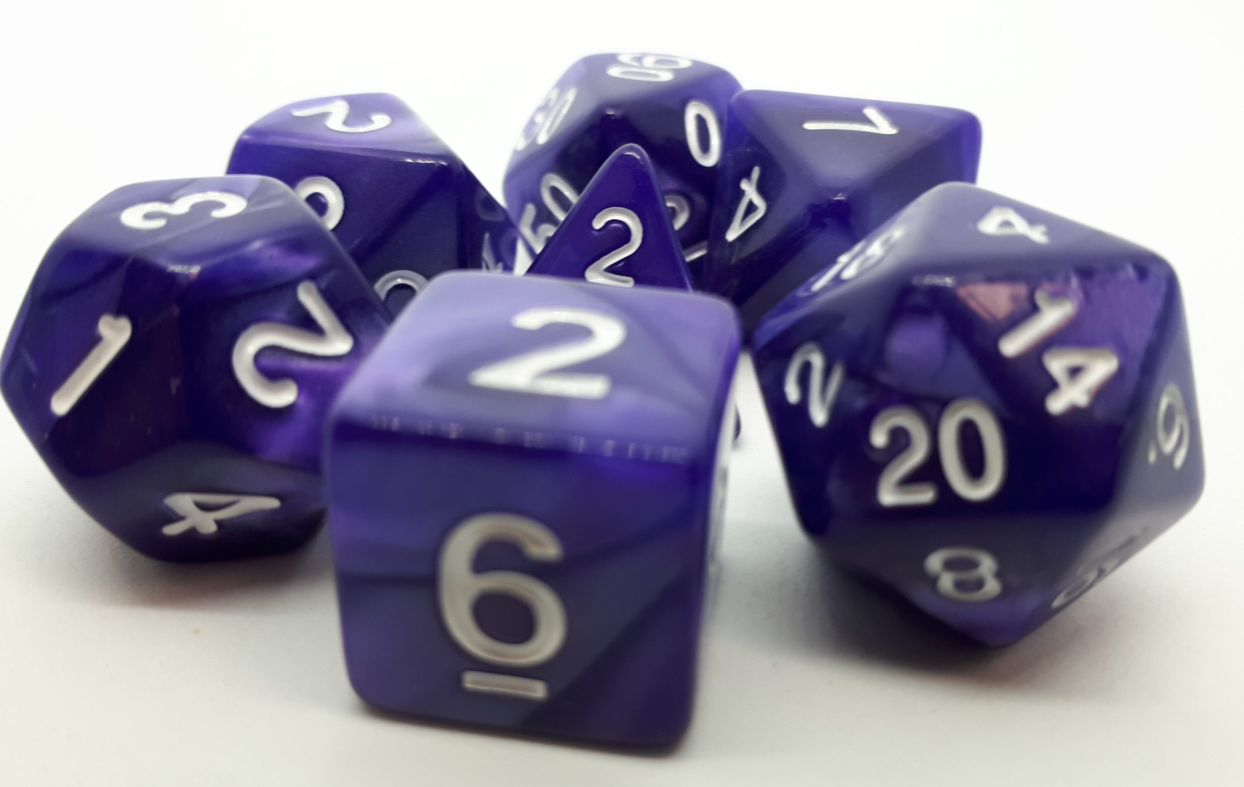 RPG Wuerfel Set Pearl Purple/White