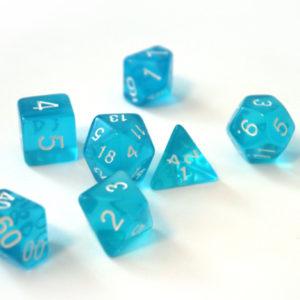 RPG Würfel SET(7) Acryl Polyhedral  Transparent Blue