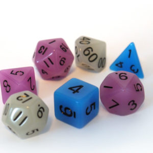 RPG Würfel Set bunt Schwarz - Roll Play Games - Dice 4 Friends