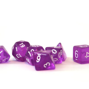 RPG Würfel SET(7) Acryl Polyhedral DnD Transparent Purple