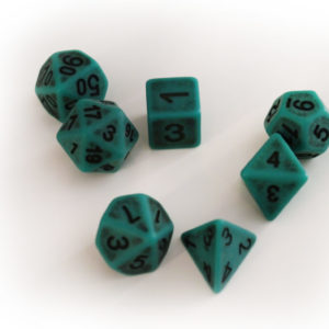 RPG Würfel SET(7) Acryl Polyhedral DnD Antique Green