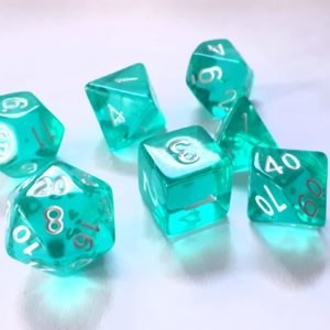 RPG Würfel SET(7) Acryl Polyhedral  Transparent Ice-Mint