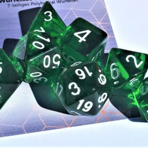 RPG Würfel SET(7) Acryl Polyhedral  Transparent Darkgreen