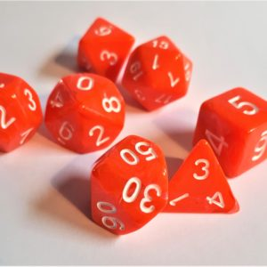 "RPG Würfel SET  ""Candysweet Orange"""