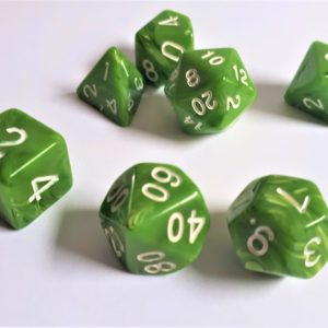 "RPG Würfel SET  ""Candysweet Green"""