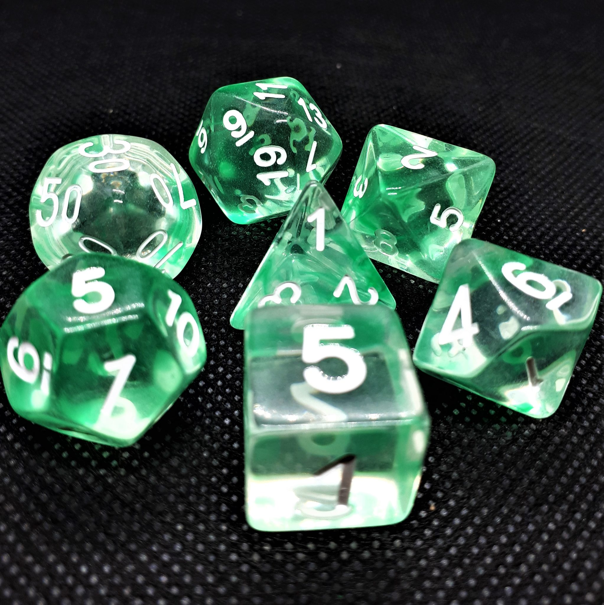 "RPG Wuerfel Set ""Nebula"" Green"