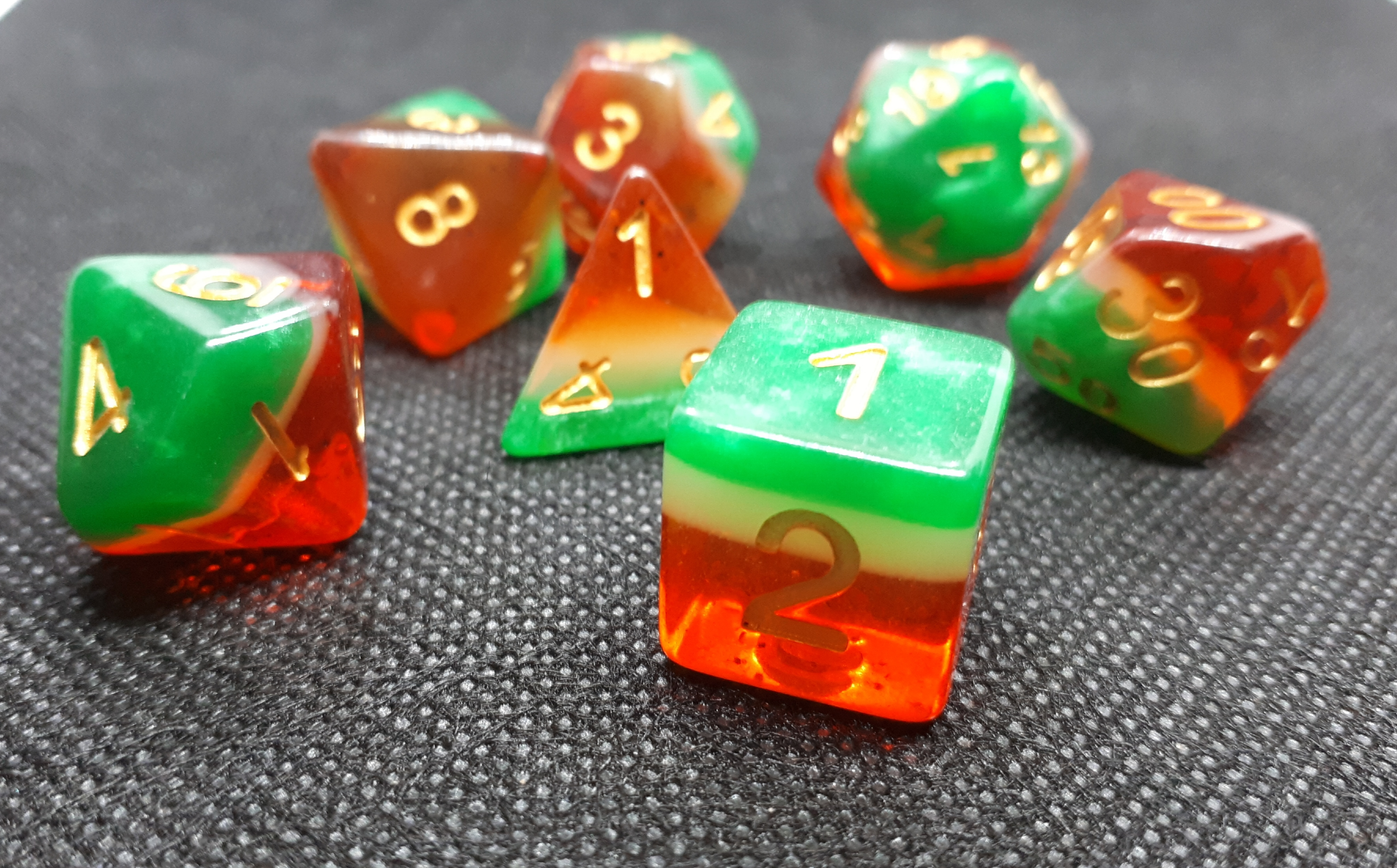 RPG Wuerfel Set Watermelon