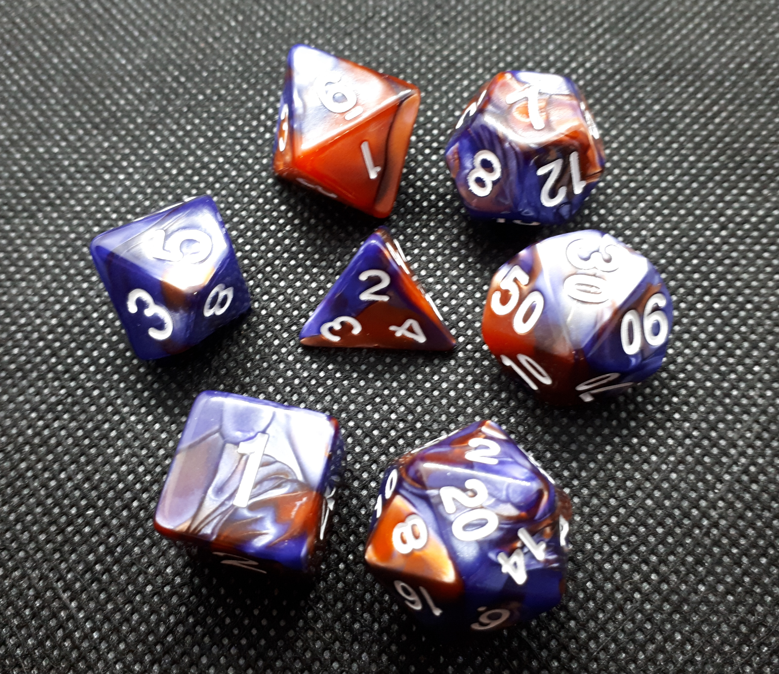 RPG Wuerfel Set Racing Copper/Purple