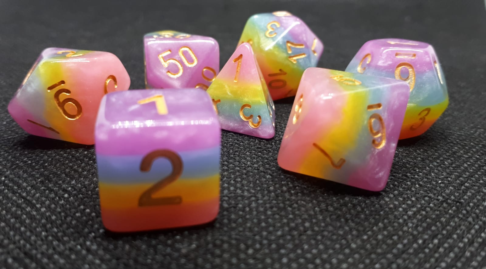 RPG Wuerfel Set Creamy Rainbow