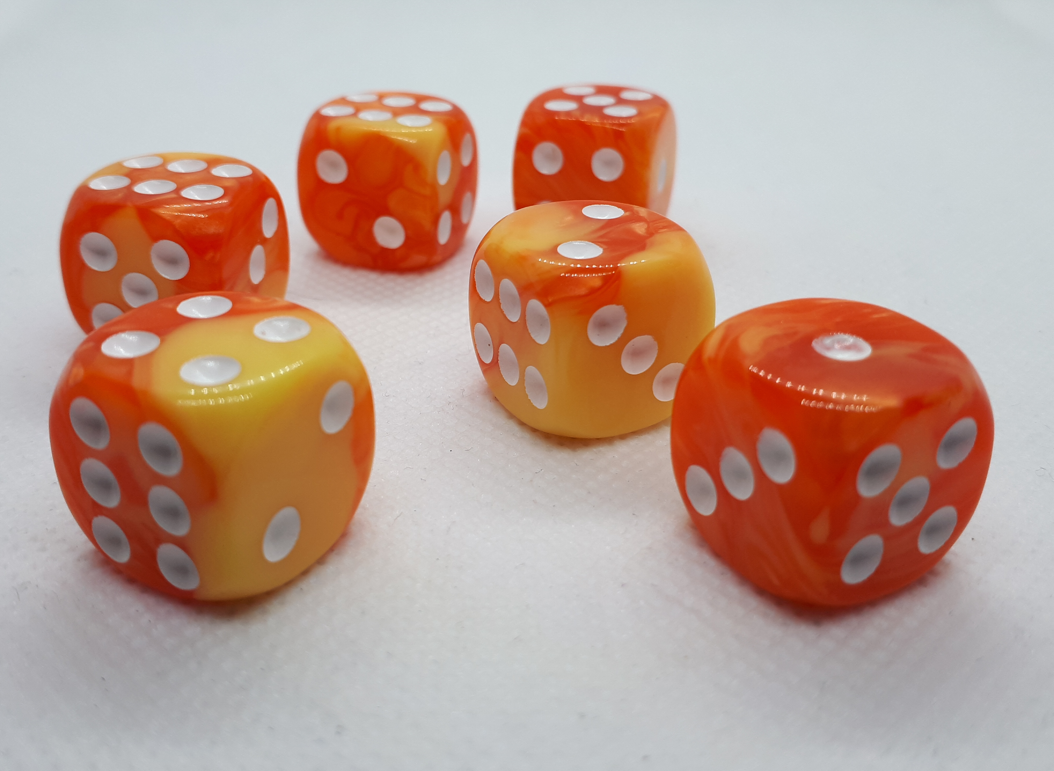"RPG Wuerfel Set D6 ""orange+yellow"""