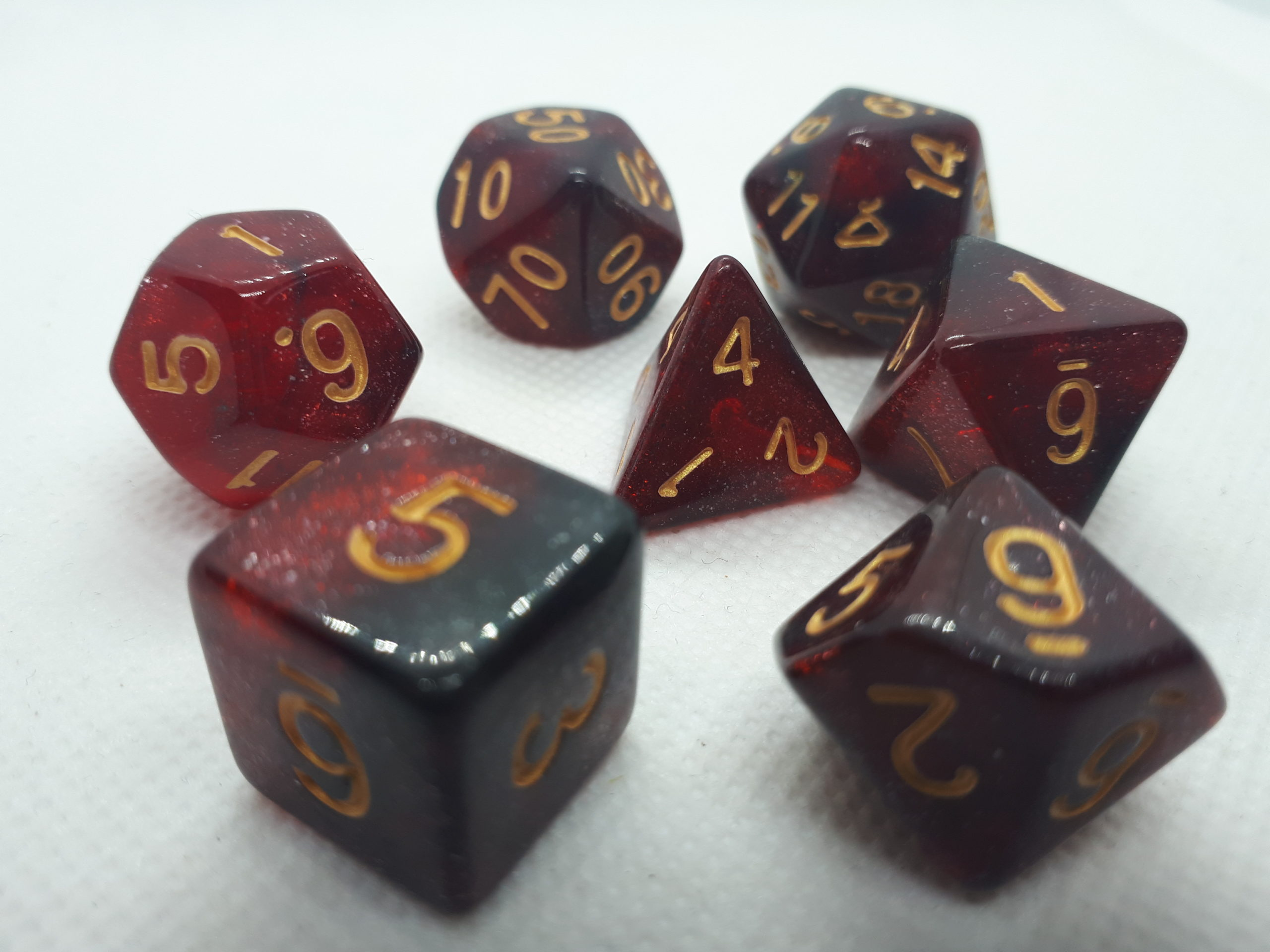 RPG Wuerfel Set Racing Glitter Red