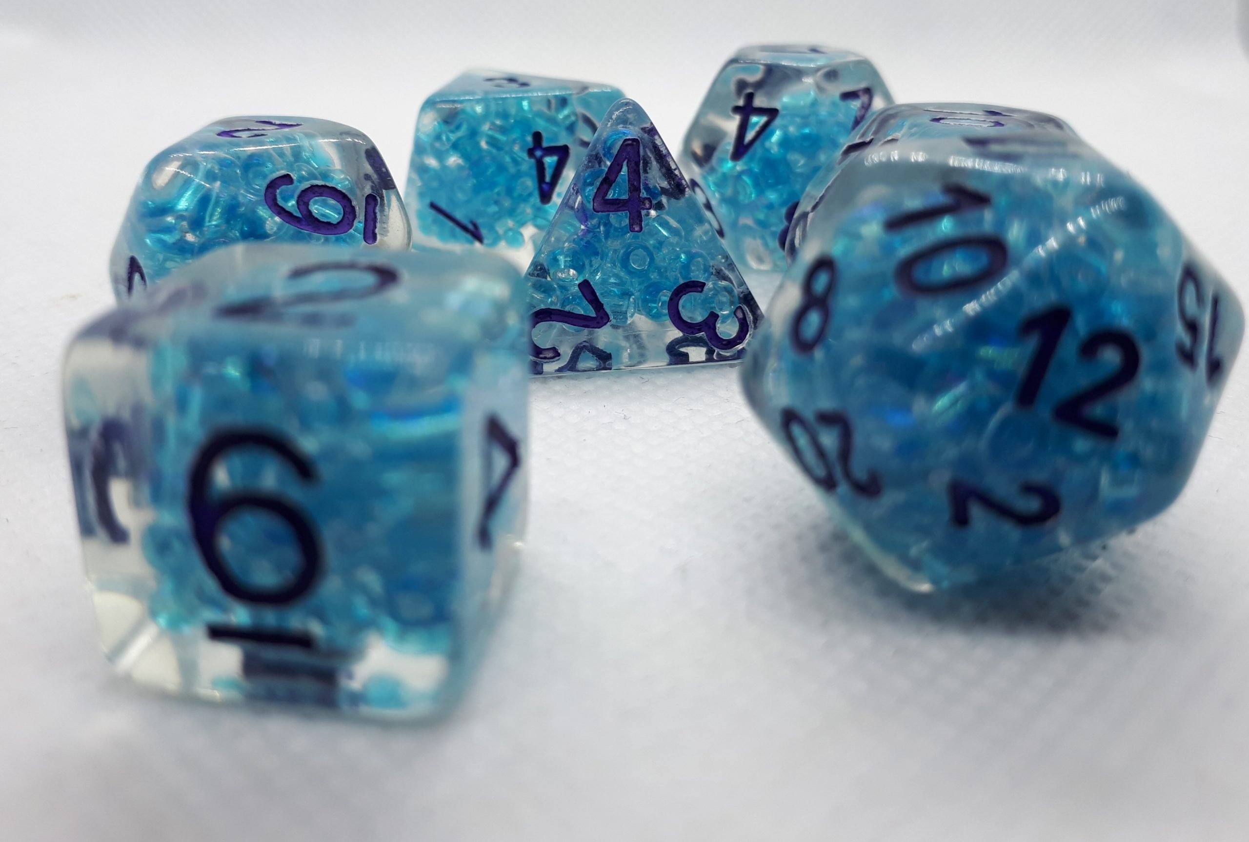 RPG Wuerfel Set Blue Bubbles