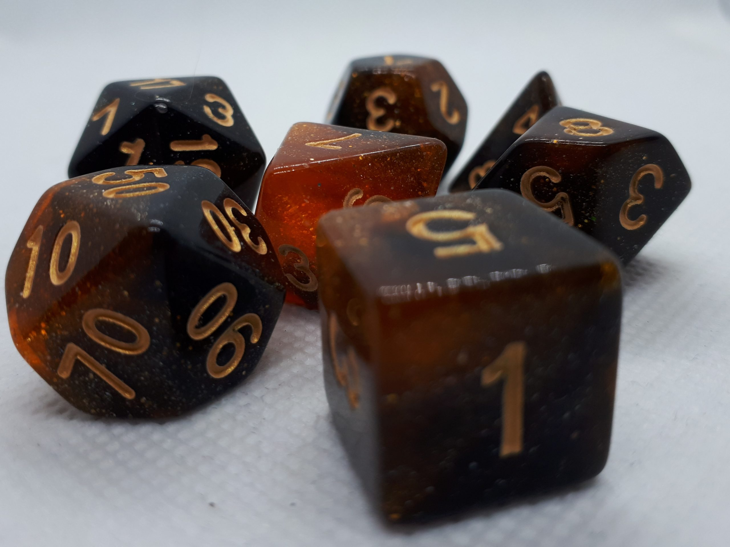 RPG Wuerfel Set Galaxy Amber