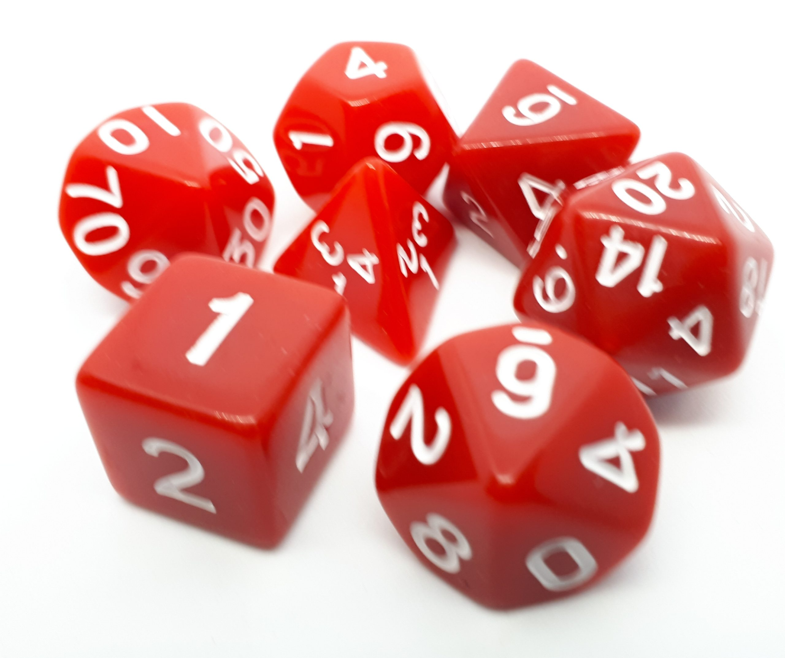 RPG Wuerfel Set Opaque Red/White